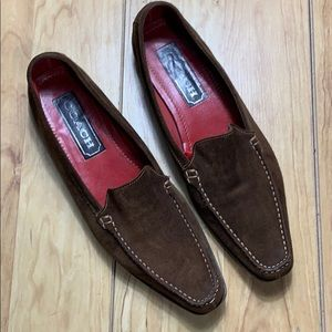 Coach Brown Leather Pointed Toe Loafers Size 10B